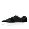 Axel Arigato - Dunk Leather Trainers in Black/White