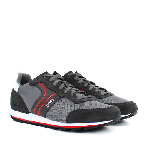 Hugo Boss - Parkour_Runn_nymx2 Trainers in Grey - Nigel Clare