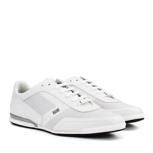 Hugo Boss - Saturn_Lowp_ltpf1 Trainers in White - Nigel Clare
