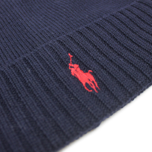 Polo Ralph Lauren - Classic Wool Pony Beanie in Navy - Nigel Clare