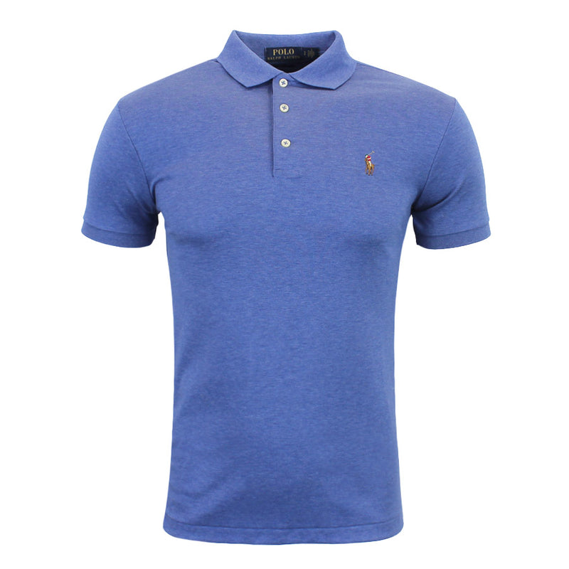 Polo Ralph Lauren - Slim Fit Soft Touch Polo Shirt in Faded Blue - Nigel Clare