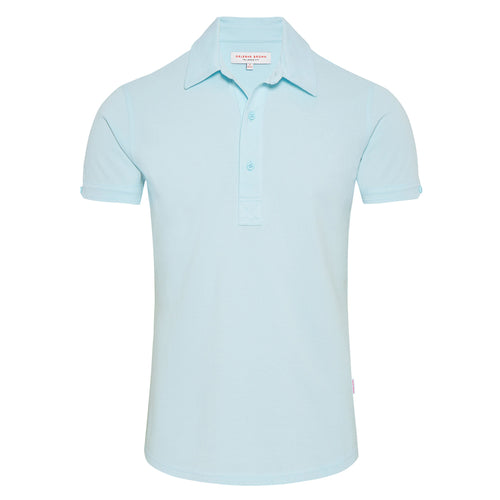 Orlebar Brown - Sebastian Tailored Fit Polo Shirt in Waterfall - Nigel Clare