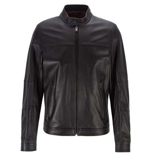 Hugo Boss - Nestem Regular Fit Nappa Leather Jacket - Nigel Clare