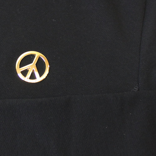 Love Moschino - Peace Logo Crew Neck Jumper in Black - Nigel Clare