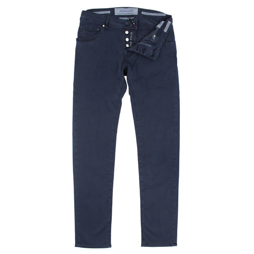 Jacob Cohen - J622 Navy Twill Cotton Chino Jean - Nigel Clare