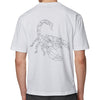 BOSS Orange - TimesNR Geometric Scorpion Print T-Shirt in White - Nigel Clare
