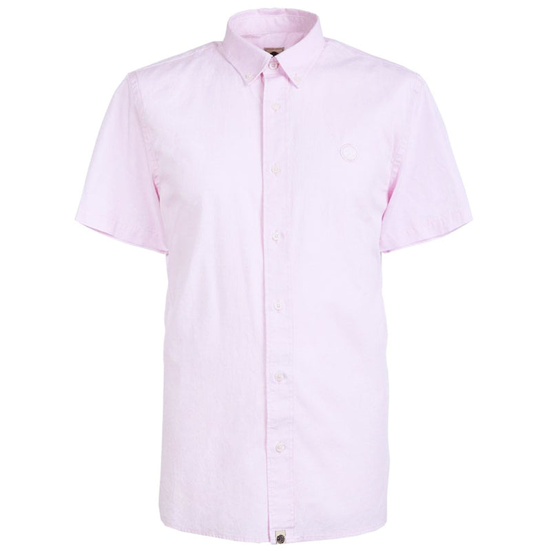 Pretty Green - Classic Fit SS Oxford Shirt in Pink - Nigel Clare