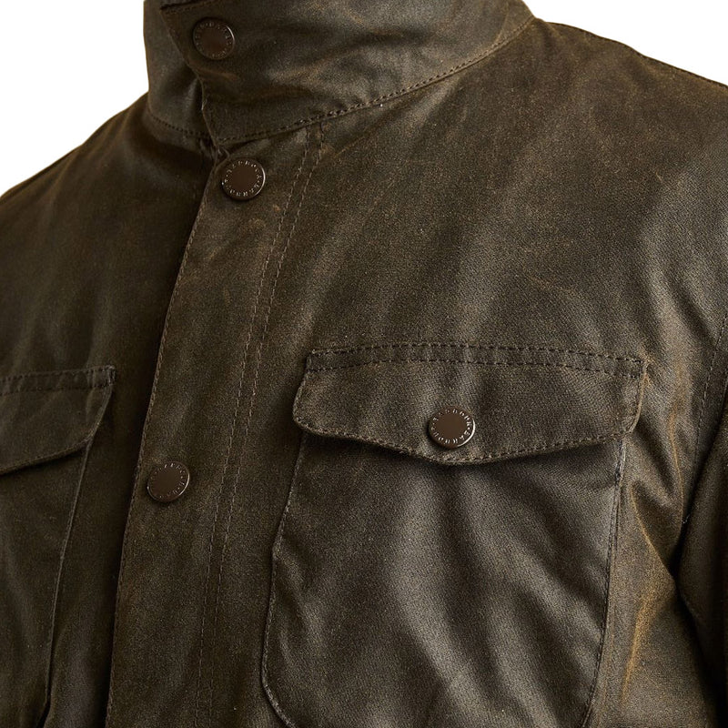 Barbour - Ogston Wax Jacket in Olive - Nigel Clare