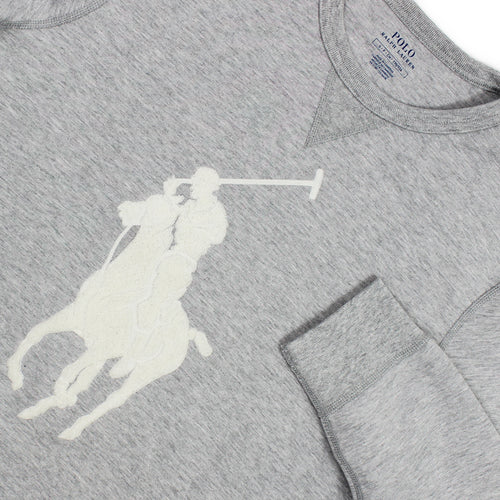 Polo Ralph Lauren - Big Pony Sweatshirt in Grey Heather - Nigel Clare
