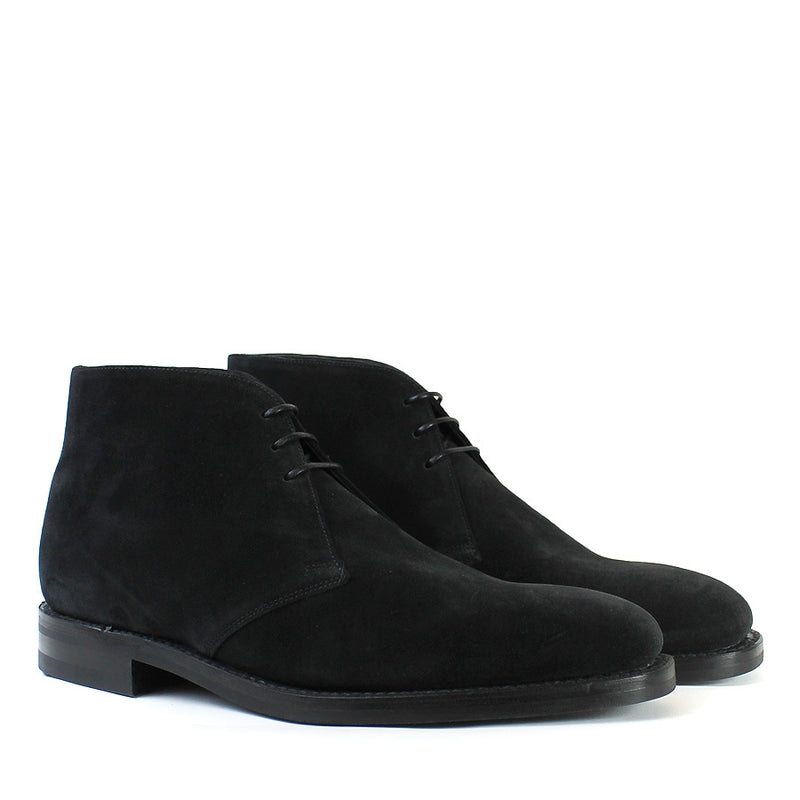 Loake - Pimlico BSR Suede Chukka Boots in Black - Nigel Clare