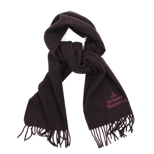 Vivienne Westwood - Embroidered Scarf in Burgundy - Nigel Clare