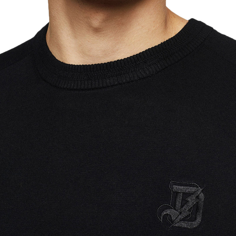 Diesel - K-Joey Crew Neck Jumper in Black - Nigel Clare