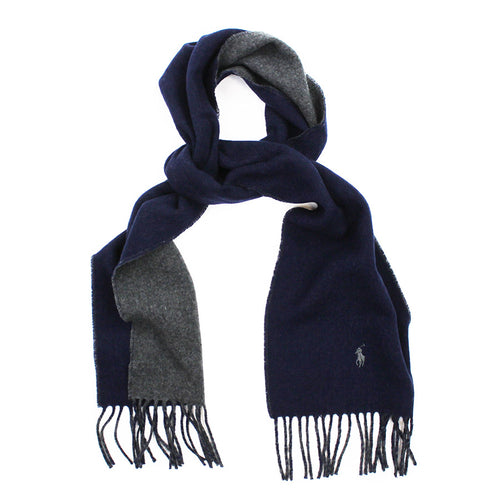 Polo Ralph Lauren - Navy/Grey Reversible Scarf - Nigel Clare