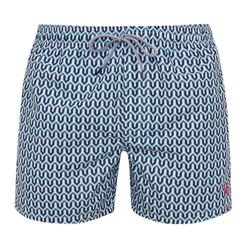 Ted Baker - Hermit Geo Print Swim Shorts in Turquoise - Nigel Clare
