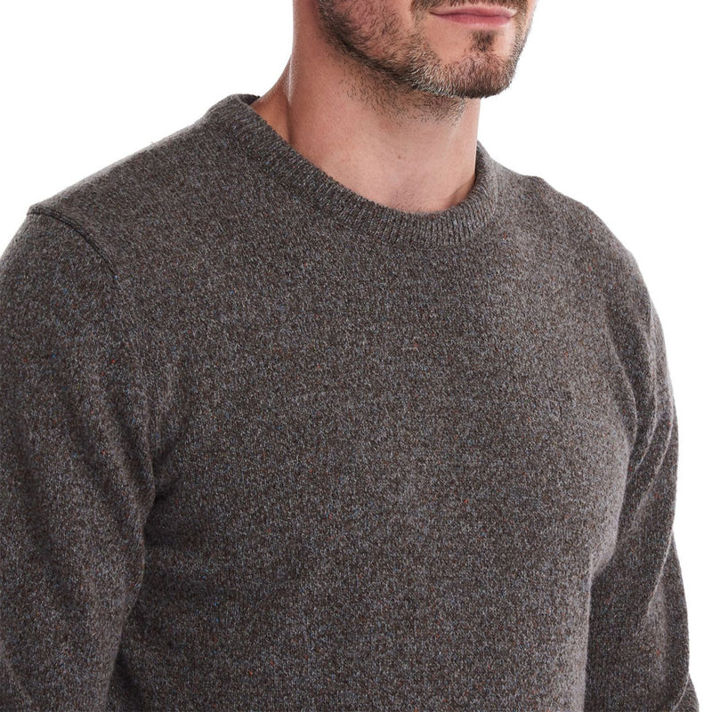 Barbour - Tisbury Crew Neck Jumper in Fog - Nigel Clare