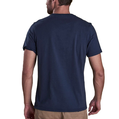 Barbour - Logo T-Shirt in Navy - Nigel Clare