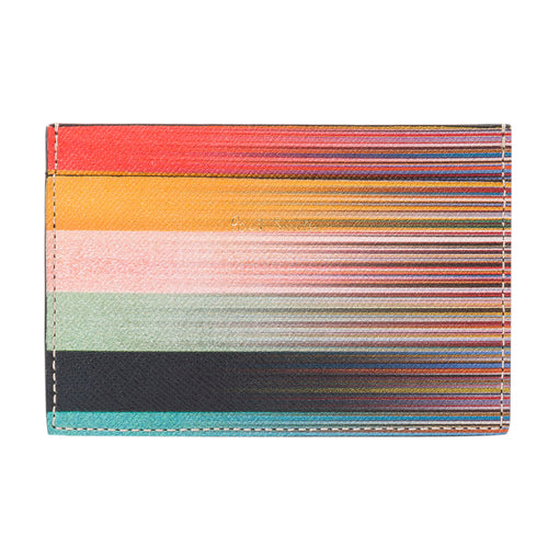 Paul Smith - Mixed Stripe Leather Card Holder - Nigel Clare
