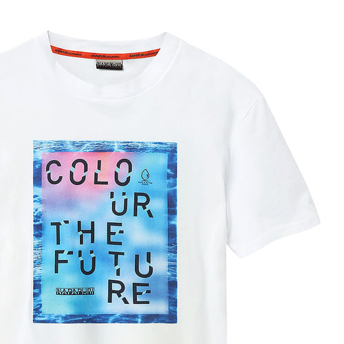 Napapijri - Sobar Colour The Future T-Shirt in White - Nigel Clare