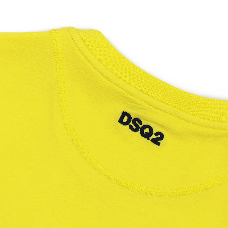 DSQUARED2 - Crew Neck Stretch T-Shirt in Yellow - Nigel Clare