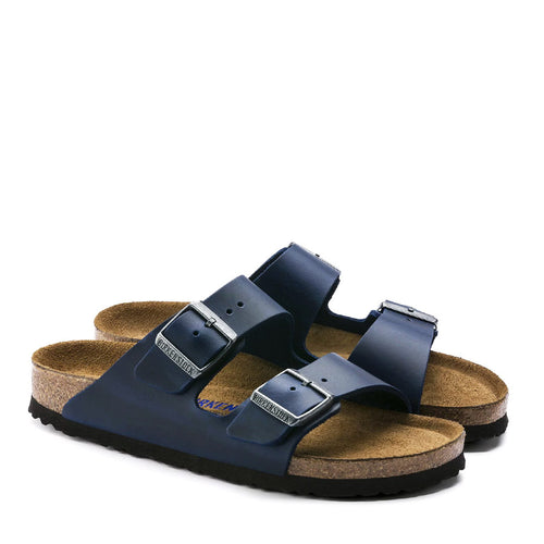 Birkenstock - Arizona Oiled Leather Sandals in Blue - Nigel Clare
