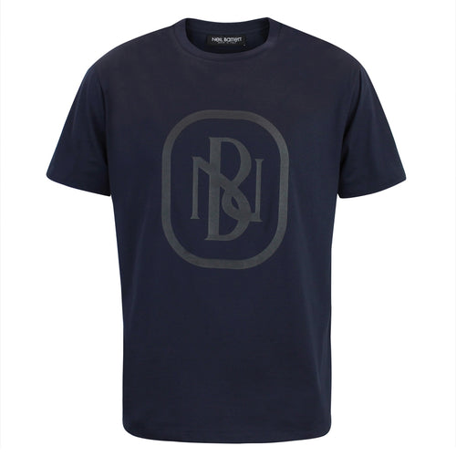 Neil Barrett - NB Logo Print T-Shirt in Navy - Nigel Clare
