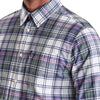 Barbour - Slim Fit Oxford Shirt in White Tartan Mix - Nigel Clare