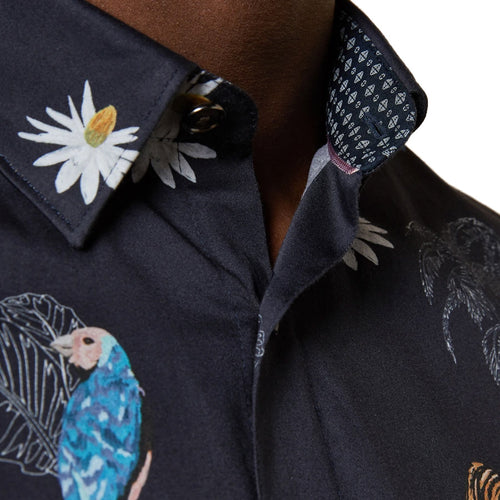 Ted Baker - KOCKOPS Animal Print SS Shirt in Navy - Nigel Clare