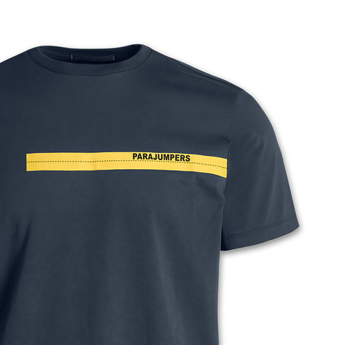 Parajumpers - Tape Logo T-Shirt in Navy - Nigel Clare