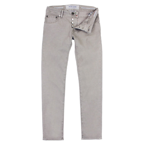 Jacob Cohen - J622 Taupe Twill Cotton Chino Jean - Nigel Clare