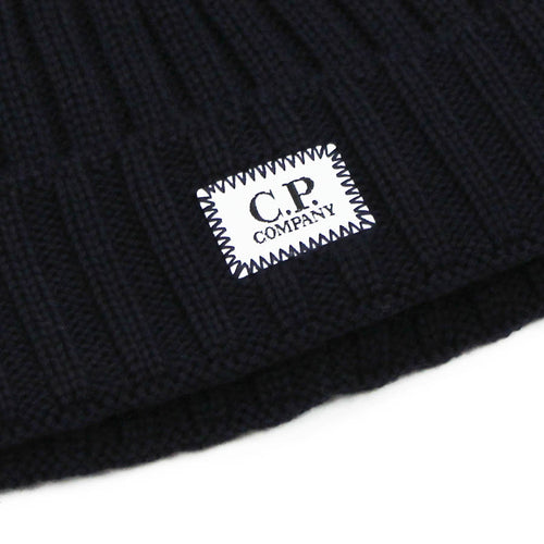 C.P Company - Small Logo Beanie in Navy - Nigel Clare