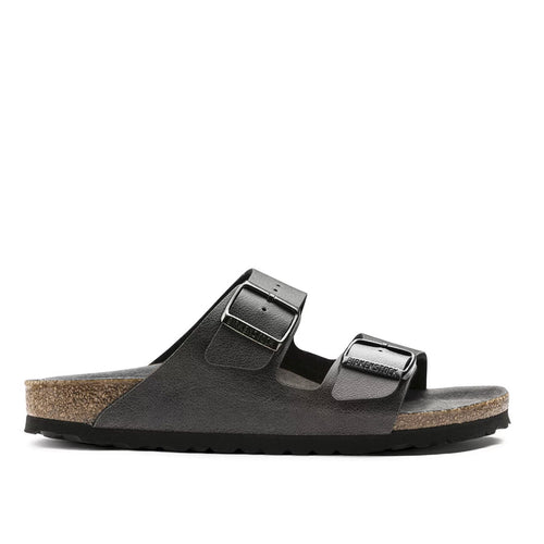 Birkenstock - Arizona Leather Sandals in Vintage Anthracite - Nigel Clare