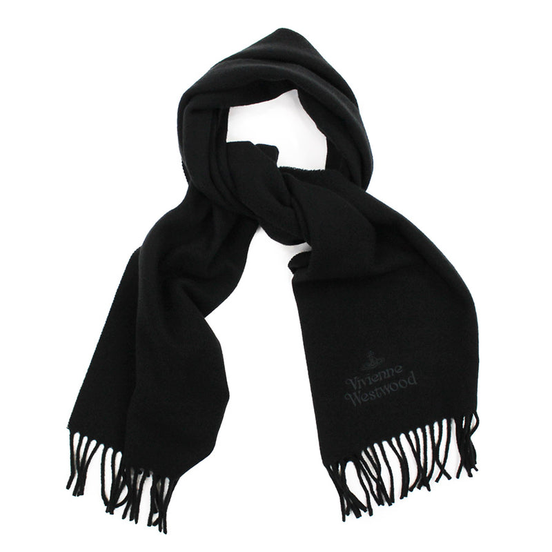 Vivienne Westwood - Embroidered Scarf in Black - Nigel Clare