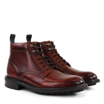 Ted Baker - WOTTSN Leather Lace Up Boots in Tan Burnished - Nigel Clare