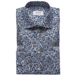 Eton - Super Slim Fit Floral Print Shirt in Blue - Nigel Clare