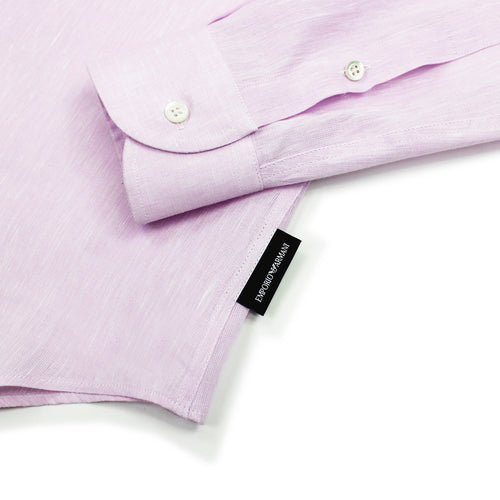 Emporio Armani - Linen Shirt in Light Pink