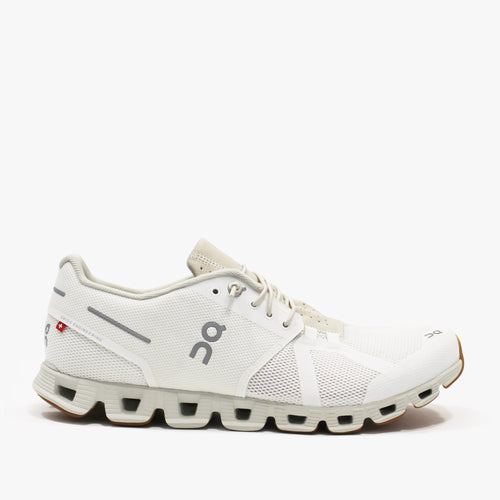 On Running - Cloud Trainers in White/Sand
