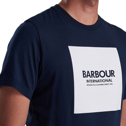 Barbour International - Block T-Shirt in Navy - Nigel Clare