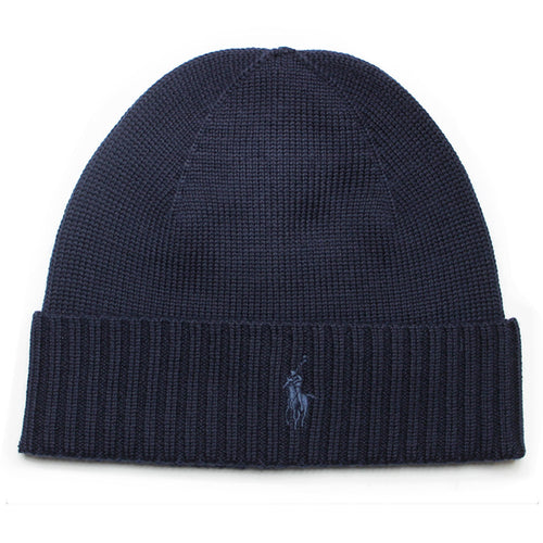 Polo Ralph Lauren - Merino Wool Beanie Hat in Navy - Nigel Clare