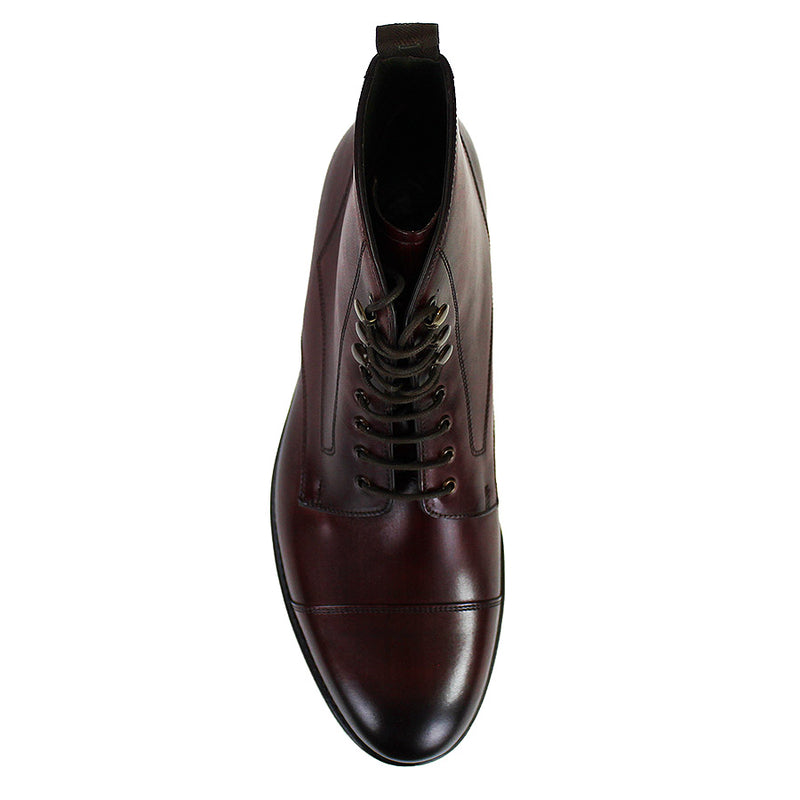 Loake - Hirst Brush Painted Boots in Burgundy - Nigel Clare