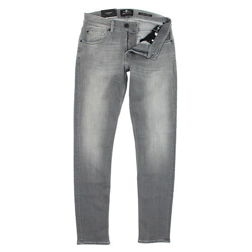 7 For All Mankind - Slimmy Tapered Luxe Jeans in Grey - Nigel Clare