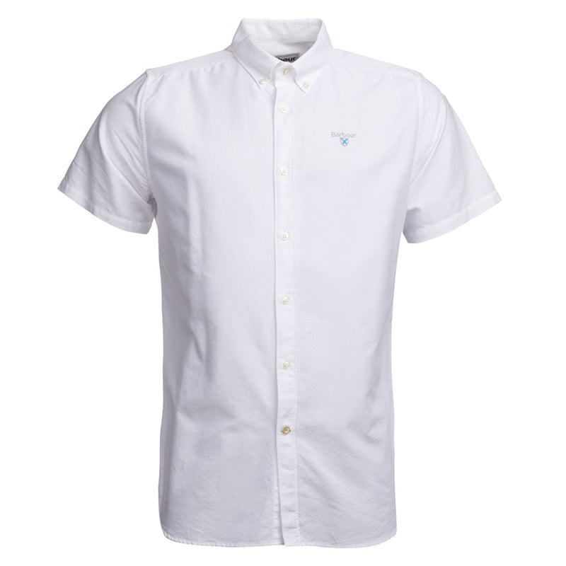 Barbour - Oxford SS Shirt in White - Nigel Clare
