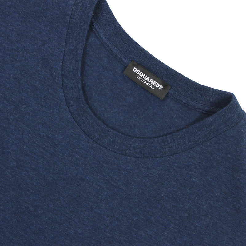 DSQUARED2 - Crew Neck T-Shirt in Navy Marl - Nigel Clare