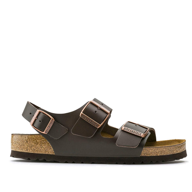 Birkenstock - Milano Natural Leather Sandals in Dark Brown - Nigel Clare