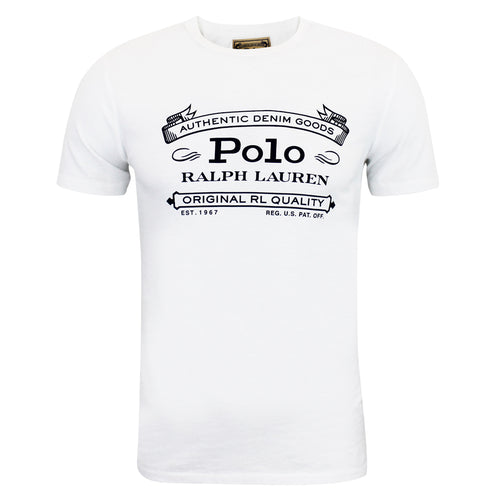 Polo Ralph Lauren - Custom Slim Fit Jersey T-Shirt in White - Nigel Clare