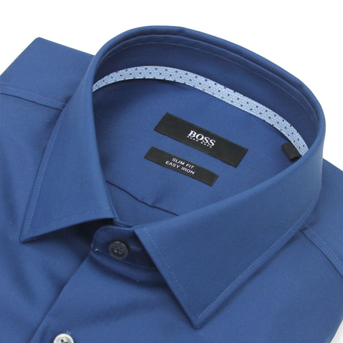 Hugo Boss - Jesse Slim Fit Shirt in Blue - Nigel Clare