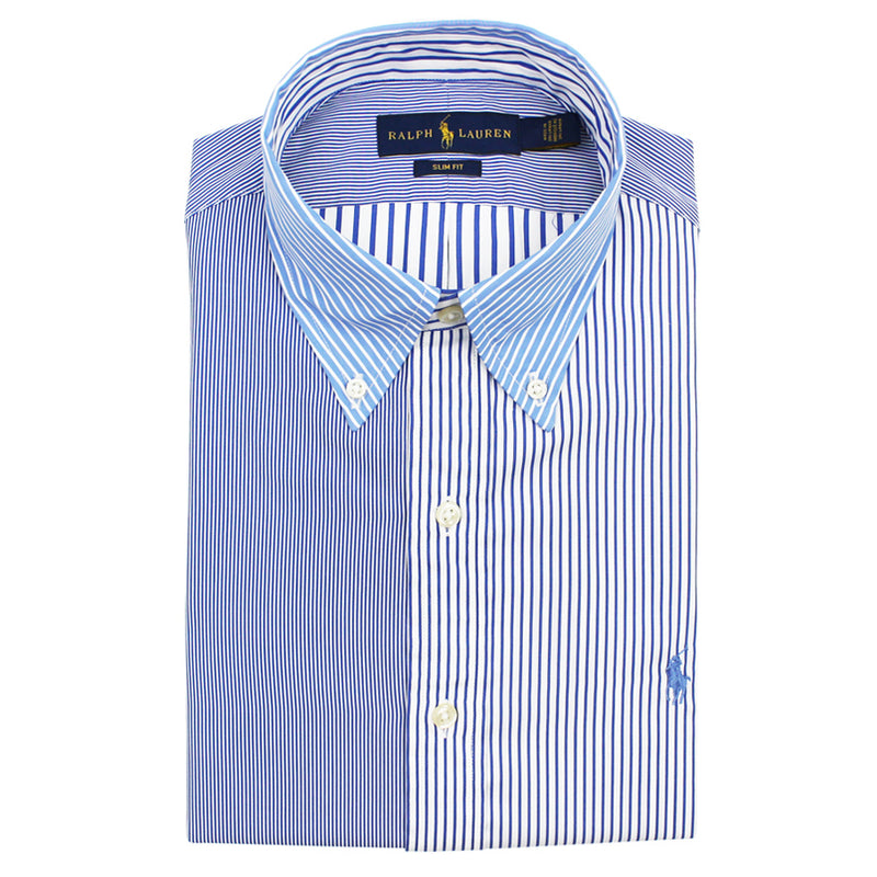 Polo Ralph Lauren - Slim Fit Multi Stripe Shirt in Blue & White - Nigel Clare