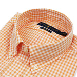 Polo Ralph Lauren - Custom Fit Check SS Shirt in Orange & White - Nigel Clare