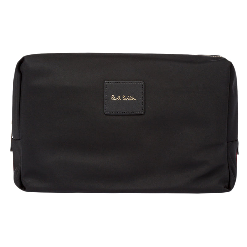 Paul Smith - Signature Stripe Webbing Washbag in Black - Nigel Clare