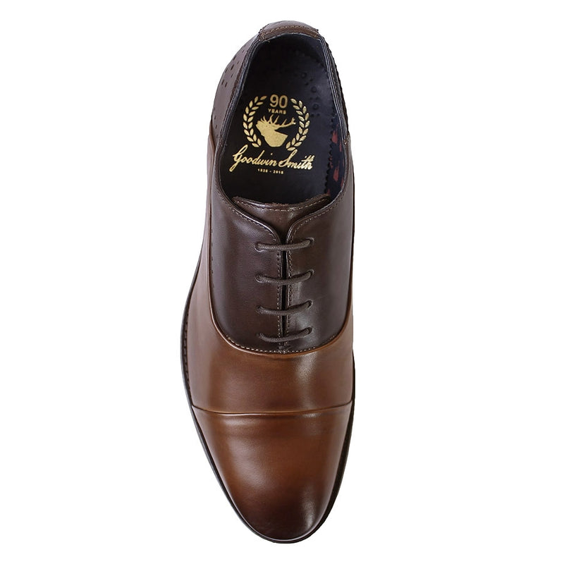 Goodwin Smith - Hutton Two Tone Brogue Shoes in Brown/Tan - Nigel Clare