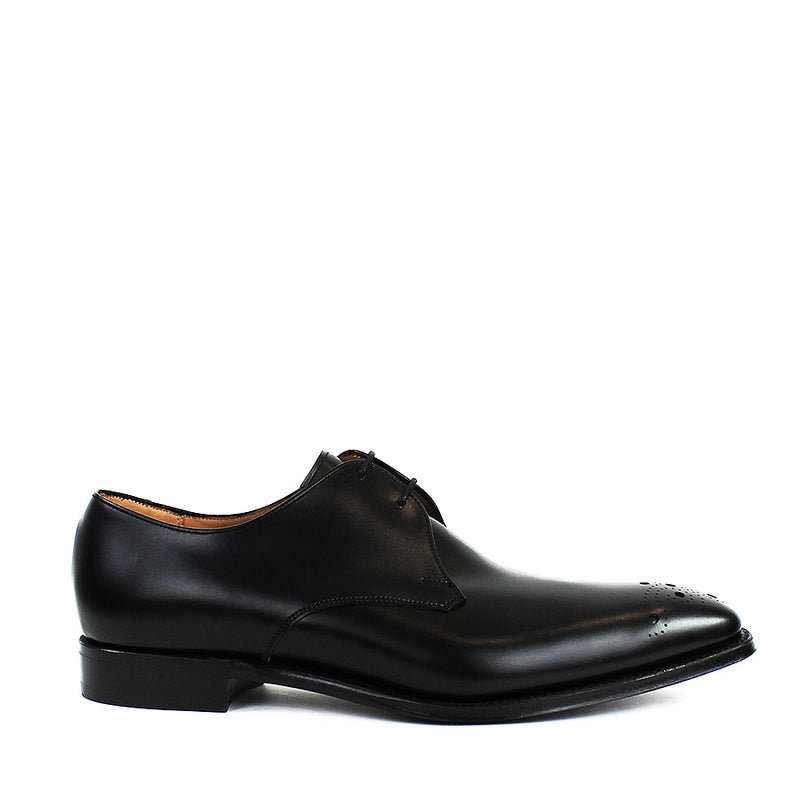 Cheaney - Hardy Leather Brogue Derby Shoes in Black - Nigel Clare